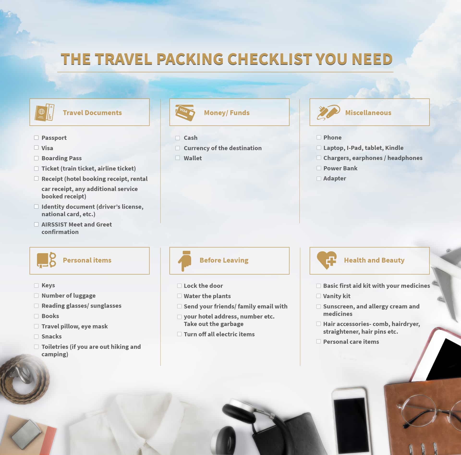 An Ultimate Guide for Travelers – A Traveler Checklist