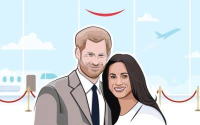 Harry & Meghan Flying Commercial for Their Visit to Cape Town